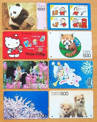 Japan Phonecards -8 Different Mint Used 500 Yen Cards