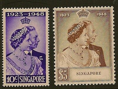 SINGAPORE :1948 Silver Wedding set  unmounted mint