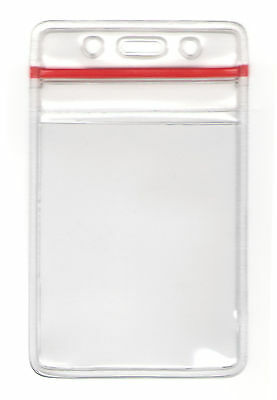 2 Zip-Lock Id Card Badge Holders - Vertical/horizontal
