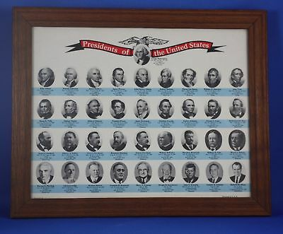 Vintage 1970's Presidents of the United States Print