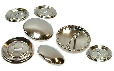Round Metal Self Cover Buttons 15mm 19mm 23mm 29mm 38mm