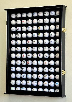 108 Golf Ball Display Case Cabinet Wall Rack Holder w/98% UV Protection Lockable