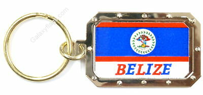 Belize Key Chain And Mini Banner