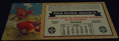 Vintage LAWSON WOOD Blotter CHICAGO IL Electrical Co 7 Monkey Artist