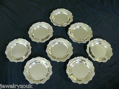 8 TIFFANY & Co. STERLING PLATES