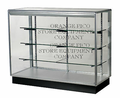 Fully Assembled 4' Extra Vision Aluminum Frame Display Showcase