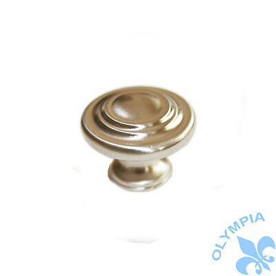 *25 Pack* Cosmas Satin Nickel Traditional Solid Round Cabinet Knobs #5305SN