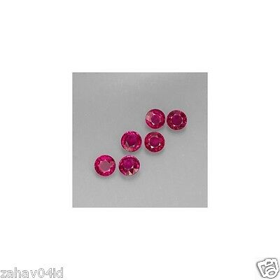 Natural round ruby 2.5mm faceted AAA 2pcs