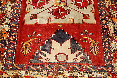 c1930s ANTIQUE DETAILED CAUCASIAN RUG 4.3x10 HEAVY FOYER SIZE_AUTHENTIC BEAUTY