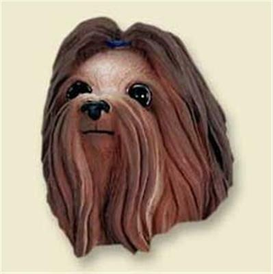 Shih Tzu Show Cut Brown White Face Magnet Free Items a4u