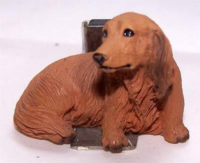 Dachshund Long Hair Red Small Statue Magnet Free Items a4u