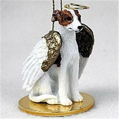 Whippet Brindle Stone Resin Angel Ornament Free Items a4u