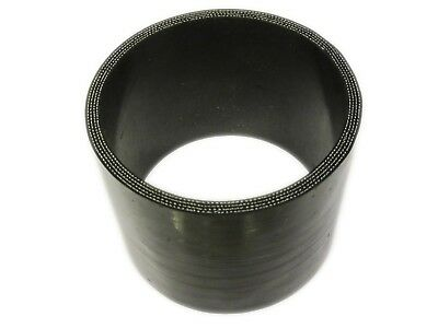 """BLACK Silicone Hose Coupler 89mm Straight (3.5"""" Silicon Joiner)"""