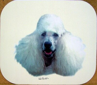 Poodle White Mouse Pad + Free Items a4u