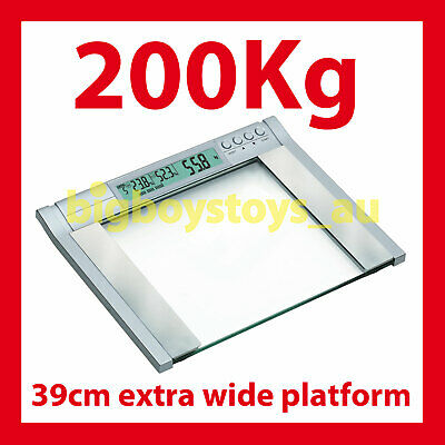 Bathroom Scales Digital Electronic 200Kg Clear Glass Scale ✪ 4 Weight Watchers