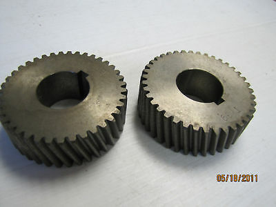 "2 New No Name Textile Gears Ty39 Approx. 1.177"" Id"