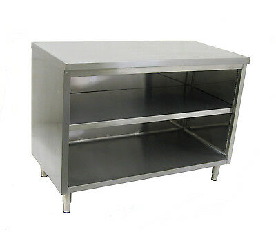 ACE 15 x 48 x 35 Stainless Steel Open Flat Top Dish Cabinet Table CDN-1548