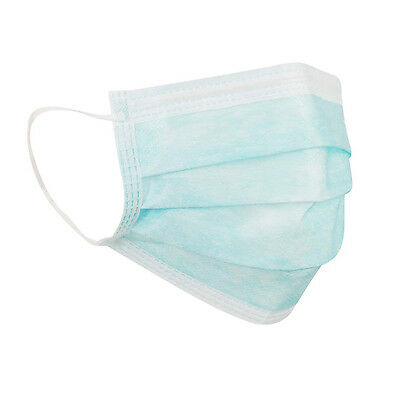 100 x Surgical Medical Infection Protection Face Masks 3 Ply 14683:2005 Approved