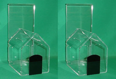 """Two (2) Original """"dog-House"""" Donation Boxes B2"""