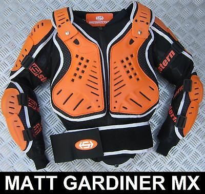 Stern Motocross Enduro Body Armour Suit Orange Xl