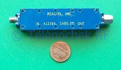 RF IF microwave bandpass filter 6.1 GHz 650 MHz BW data