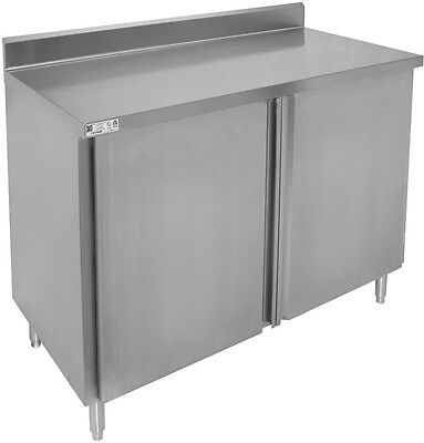 "ACE S/S 4"" Rear Upturn Cabinet w/ Hinged Doors  24""x48""x35"" CTD-P2448H"