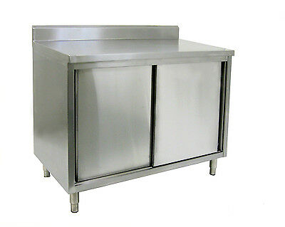 "18 Gauge All S/S Rear Upturn Cabinet w/ Sliding Doors 30""x36""x35"" ETL CTD-P3036S"