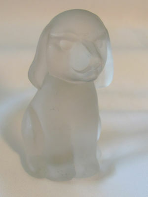 European Collection W Germany 24% Lead Glass Pup Dog