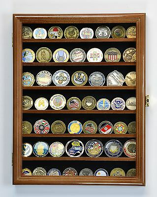 Marines Police Army Navy Military Challenge Coin Display Case Holder Rack -Locks