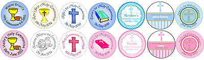 48 personalised stickers for Holy Communion