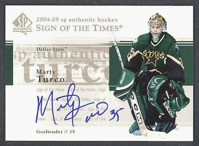 04 05 SP AUTHENTIC SIGN OF THE TIMES MARTY TURCO AUTO DALLAS STARS FREE SHIP