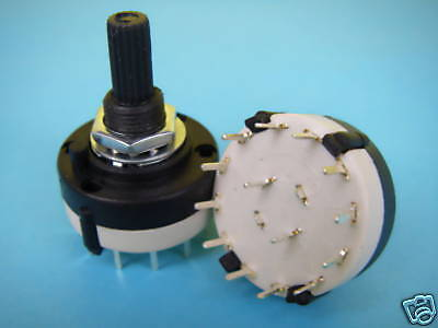 1pcs 2 Pole 3 Position Custom Wiring ROTARY SWITCH 2P3T