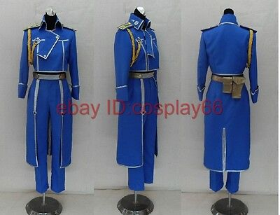 FullMetal Alchemist Roy Uniform Cosplay Costume Any Siz