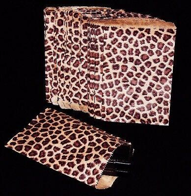 100 Gift Or Shopping Bags Leopard Design