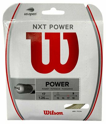 Wilson NXT Power 1.26mm 17 Tennis Strings Set