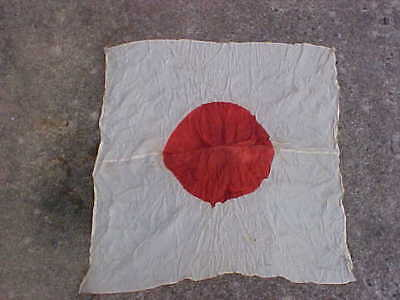 Original WWII Silk Meatball Flag - VET FIND!!