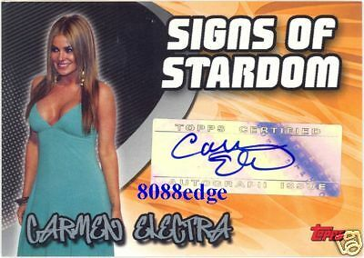 2005-06 Topps Signs Of Stardom Auto: Carmen Electra - Autograph Baywatch/playboy
