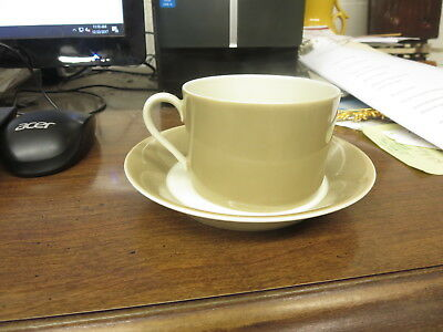 Fawn Brown Rondelet Cup and Saucer Fitz Floyd 1975