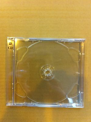 25 Brilliant Box Double Cd Cases + Clear Trays +Freedel