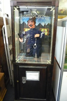 RARE 1970's Laughing Policeman Coin operated Machine
