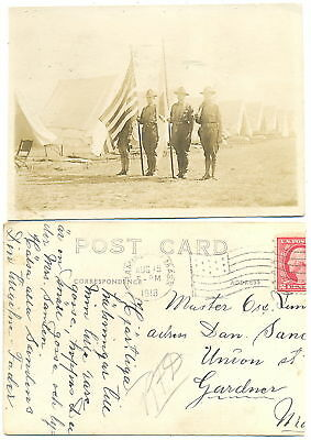 3 -1918 Soldiers at Mess Call & Revelie- Camp Devens MA