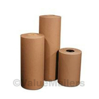 """24"""" 60 lbs 720' Brown Kraft Paper Roll Shipping Wrapping Cushioning Void Fill"""