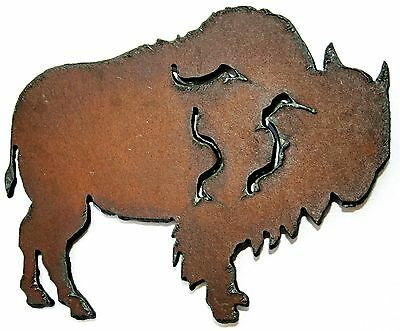 Western Home Decor Rustic Metal Decor Buffalo Kitchen Magnet