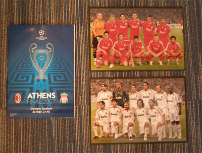 Liverpool v AC Milan with photos Champions League Final programme