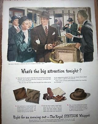 1946 Royal STETSON Men's Hat Big Attraction ad