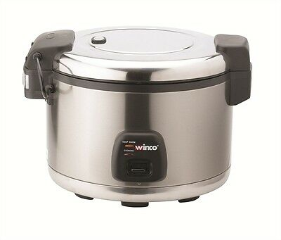 Winco Rice 60 Cups Cooker w/Warmer Hinged Cover RC-S300