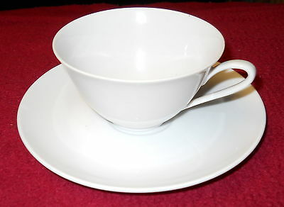 HUTSCHENREUTHER SISSI WHITE CUP AND SAUCER SET