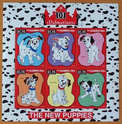 3 X Disney 101 Dalmatians -New Puppies Stamp Sheet.