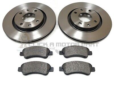 PEUGEOT PARTNER 1.6 HDi MK1 2006-2008 FRONT 2 BRAKE DISCS AND PADS SET NEW