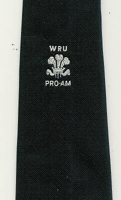 Wru Pro Welsh Rugby Tie With Coa Bill Clement